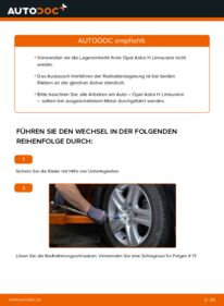 Wie der Wechsel durchführt wird: Radlager 1.6 (L69) Opel Astra H Limousine tauschen