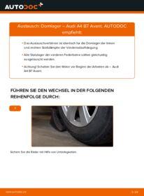 Wie der Wechsel durchführt wird: Domlager 2.0 TDI Audi A4 B7 Avant tauschen