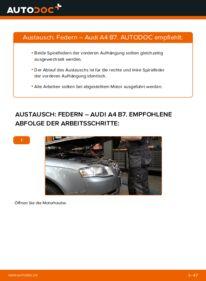 Wie der Wechsel durchführt wird: Federn 2.0 TDI 16V Audi A4 B7 Limousine tauschen