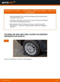 Wie der Wechsel durchführt wird: Federn 1.9 JTDM 16V Alfa Romeo 159 939 tauschen
