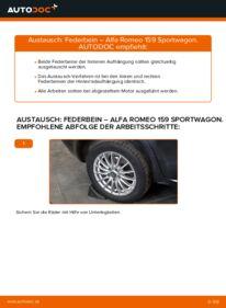 Wie der Wechsel durchführt wird: Stoßdämpfer 1.9 JTDM 16V Alfa Romeo 159 Sportwagon tauschen