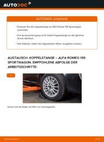 Wie der Wechsel durchführt wird: Koppelstange 1.9 JTDM 16V Alfa Romeo 159 Sportwagon tauschen