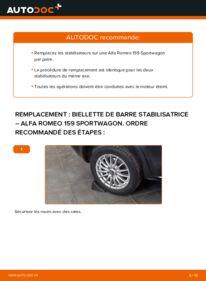 Comment effectuer un remplacement de Biellette De Barre Stabilisatrice sur 1.9 JTDM 16V Alfa Romeo 159 Sportwagon