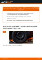 PDF Wechsel Anleitung: Domlager PEUGEOT 406 (8B) hinten und vorne