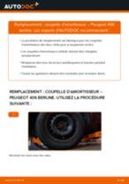 Comment changer : coupelle d'amortisseur arrière sur Peugeot 406 berline - Guide de remplacement