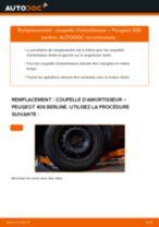 Comment changer : coupelle d'amortisseur avant sur Peugeot 406 berline - Guide de remplacement