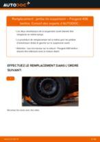 Comment changer : jambe de suspension avant sur Peugeot 406 berline - Guide de remplacement