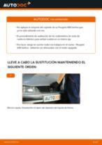 Instalación Juego de cojinete de rueda PEUGEOT 406 (8B) - tutorial paso a paso