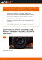 Le raccomandazioni dei meccanici delle auto sulla sostituzione di Supporto Ammortizzatore PEUGEOT Peugeot 406 Sedan 1.8 16V