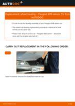 Replacing Wheel hub bearing PEUGEOT 406: free pdf