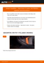 Byta kupéfilter på Opel Astra H sedan – utbytesguide