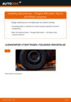 Bytte Støtdempere bak og foran PEUGEOT gjør-det-selv - manualer pdf på nett
