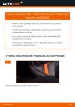 Ako vymeniť filter vnútorného priestoru na Opel Astra H sedan – návod na výmenu