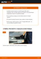 Jak vyměnit zadní brzdové kotouče na Peugeot 406 sedan – návod k výměně