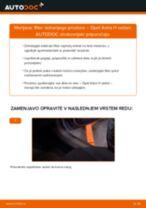 Kako zamenjati avtodel filter notranjega prostora na avtu Opel Astra H sedan – vodnik menjave