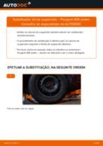 Tutorial passo a passo em PDF sobre a substituição de Amortecedor no PEUGEOT 406 (8B)
