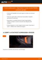 Pollenszűrő-csere Opel Astra H sedan gépkocsin – Útmutató
