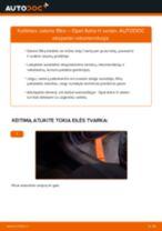 Kaip pakeisti Opel Astra H sedan salono filtro - keitimo instrukcija
