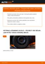 Kada reikia keisti Amortizatoriaus atrama PEUGEOT 406 (8B): pdf vadovas