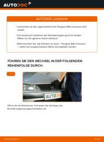 Wie der Wechsel durchführt wird: Radlager 2.0 HDI 110 Peugeot 406 Limousine tauschen