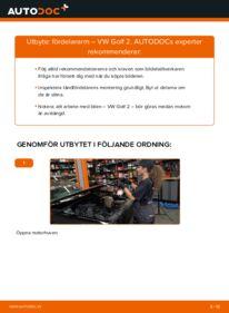 Så byter du Fördelararm på 1.8 GTI VW GOLF II (19E, 1G1)