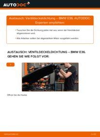Wie der Wechsel durchführt wird: Ventildeckeldichtung 320i 2.0 BMW E36 tauschen