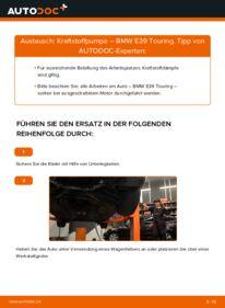 Wie der Wechsel durchführt wird: Kraftstoffpumpe 530d 3.0 BMW E39 Touring tauschen