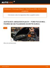 Wie der Wechsel durchführt wird: Ansaugschlauch, Luftfilter 1.6 TDCi Ford Focus mk2 Limousine tauschen