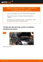 Wie Bremssteine hinten + vorne beim Toyota Avensis T27 Kombi wechseln - Handbuch online