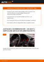Schritt-für-Schritt-PDF-Tutorial zum Scheibenwischer-Austausch beim VW GOLF V (1K1)