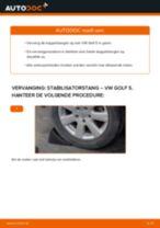 Torsiestang VW GOLF V (1K1) monteren - stap-voor-stap tutorial