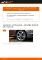 AUDI A4 (8K2, B8) Koppelstange: Schrittweises Handbuch im PDF-Format zum Wechsel