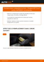 Comment changer : plaquettes de frein arrière sur Peugeot 207 3 ou 5 portes - Guide de remplacement
