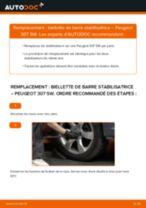 Comment changer : biellette de barre stabilisatrice avant sur Peugeot 307 SW - Guide de remplacement