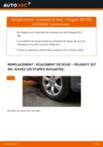 Comment changer : roulement de roue avant sur Peugeot 307 SW - Guide de remplacement