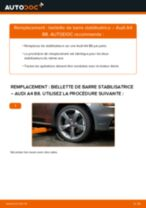 Tutoriel PDF étape par étape sur le changement de Biellette De Barre Stabilisatrice sur AUDI A4 (8K2, B8)