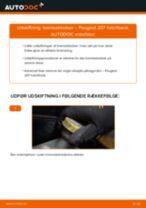 Udskift bremseklodser bag - Peugeot 207 hatchback | Brugeranvisning
