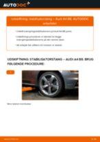 Udskift stabilisatorstang for - Audi A4 B8   Brugeranvisning