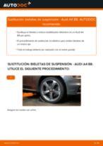 Cómo cambiar: bieletas de suspensión de la parte delantera - Audi A4 B8 | Guía de sustitución