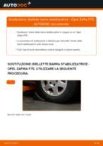 Come cambiare biellette barra stabilizzatrice della parte anteriore su Opel Zafira F75 - Guida alla sostituzione