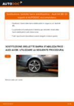 Come cambiare biellette barra stabilizzatrice della parte posteriore su Audi A4 B8 - Guida alla sostituzione