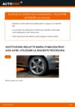 Come cambiare biellette barra stabilizzatrice della parte anteriore su Audi A4 B8 - Guida alla sostituzione