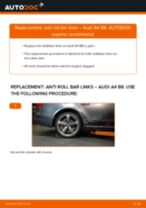 rear and front Anti roll bar links AUDI A4 Saloon (8K2, B8) | PDF replacement manual