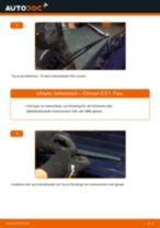 Byta torkarblad bak på Citroen C3 1 – utbytesguide