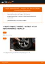 Byta stabilisatorstag fram på Peugeot 307 SW – utbytesguide