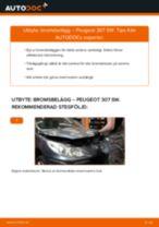 Byta bromsbelägg bak på Peugeot 307 SW – utbytesguide