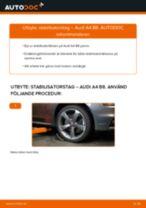 Byta stabilisatorstag fram på Audi A4 B8 – utbytesguide