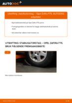 Slik bytter du stabilisatorstag fremme på en Opel Zafira F75 – veiledning