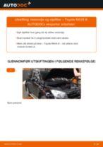 Skifte Oljefilter TOYOTA RAV4: verkstedhåndbok