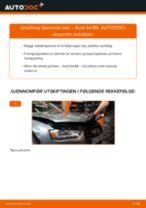 PDF med trinn for trinn-veiledning for bytte av AUDI A4 (8K2, B8) Støtdemper